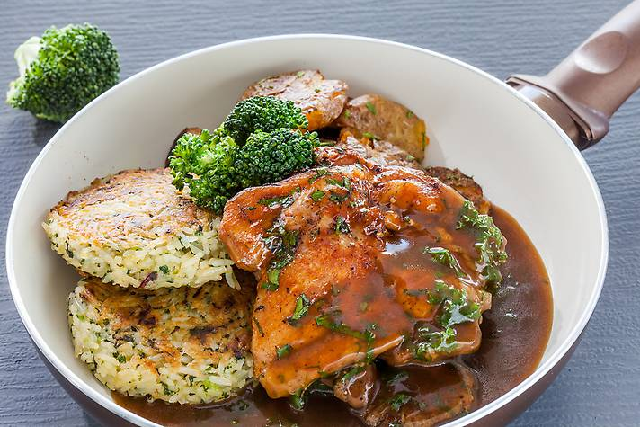 Chicken Steak in Jack Daniels Sauce